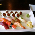 Lunch sushi plate at Midori