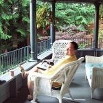  mike ~ enjoying the beautiful morning at ilahee manor inn ~  bremerton, wa