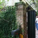  locked gated entry to courtyard