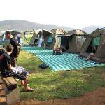 sleeping in tents for large groups