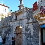 Trogir-North Gate with St Ivan Orsini on top