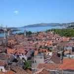 View of Trogir from the belfry