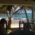 View from the room to the beach.