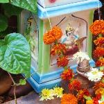 Lovely Ganesha shrine right at hotel entrance.
