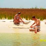 me and brandon on shell island in panama city beach, florida
