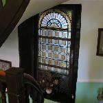 Stained Glass in the Stairway