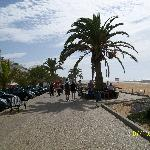 walking along beach to Quarteira