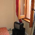 Room 212 TV & small fridge
