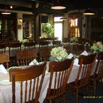 Main dining room set for a party