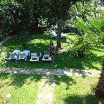 Garden from the balcony at Yavuz