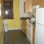 Kitchen;  lower level apartment