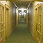 "Hallway, reminded my wife of the movie ""The Shining"" REDRUM"