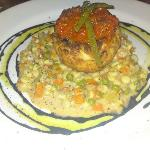 Crabcake with Corn Succotash
