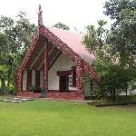  One of the attractons- Waitangi Treaty grounds