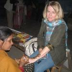 Having my own mendhi done in the market