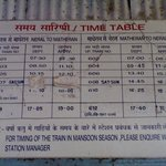 Neral-Matheran-Neral Timetable :)
