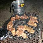 These steaks were amazing - especially on top of Haunted Hill under the Texas stars...