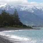Foto van Waves on the Esplanade Kaikoura