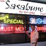 me in front of Sushi Sasabune