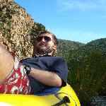 On Assegaaibosch's river raft at the Kouga river