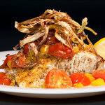 One of our many delicious Greek entrees