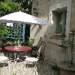  A quiet place for a snack or glass of wine in the evening at La Grange
