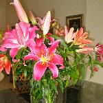 lilies on the dining room table