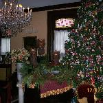 The 1000 Christopher Radko Christmas Tree in the Main Parlor