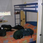  The room (I guess all doubles come with bunk beds).  We didn&#39;t request one.