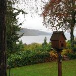 View of Loch Ness from B&B front yard