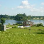 Lake at Birni (set up for wedding)