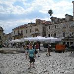 In front of Pizzeria Kogo, Hvar