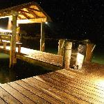 The dock at night.