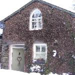 Coach House Cottage in the snow