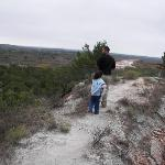hiking trail above the Pease river