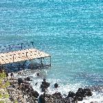 On walkway to stalis there is a pier you can jump off or sunbathe
