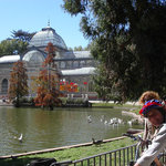 Cristal palace in the Retiro park Madrid