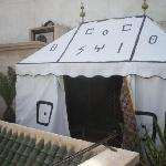 The amazing Berber Tent on the roof!