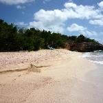 The secluded beach only steps away