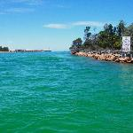  This was the beautiful water at Lakes Entrance