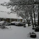 The bungalow at Goldilands in snow