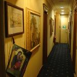  The walkways were decorated with paintings