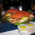Fresh Dungeness crab, tried it cold.  Yes it is served cold. With warm melted butter and homemad
