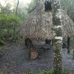 Traditional Seminole chickee cooking hut
