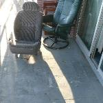 Old Car Seats, etc on Patio