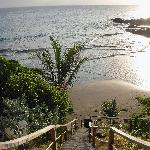 the stairs leading to the private beach