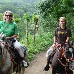 My daughter and me on the horses