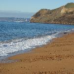 looking west on Eype beach