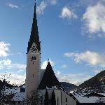 pension margit, niederau, brilliant, but this is the village church