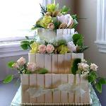 chocolate plaque wedding cake